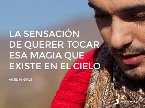 Frases de canciones del popular cantante argentino Abel Pintos