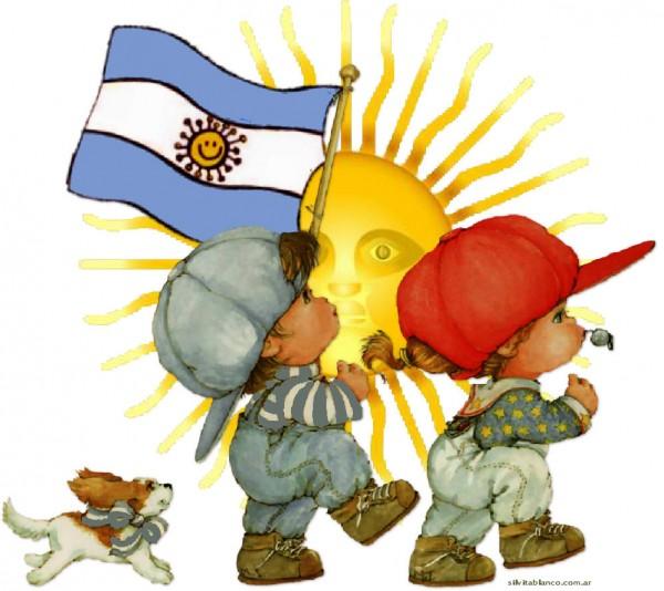 Imágenes infantiles del Día de la Bandera Nacional Argentina