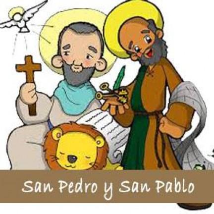 Imágenes infantiles de San Pedro y San Pablo para descargar gratis
