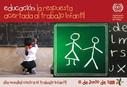 """12 de junio Imágenes del Día contra el Trabajo Infantil: """"Sí a una educación de calidad"""""""