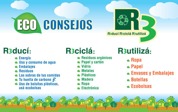 Imgenes con frases de las 3 R Reducir reciclar y reutilizar