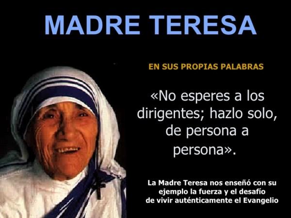 Frases e imágenes de la Madre Teresa de Calcuta para reflexionar