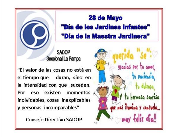 28 de mayo im genes con frases del d a de los jardines de for Cancion para saludar al jardin de infantes