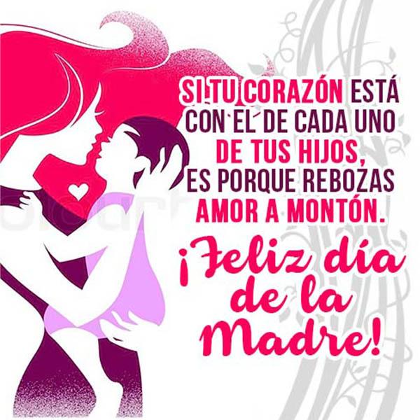 Tarjetas con felicitaciones y Frases para el Da de la Madre