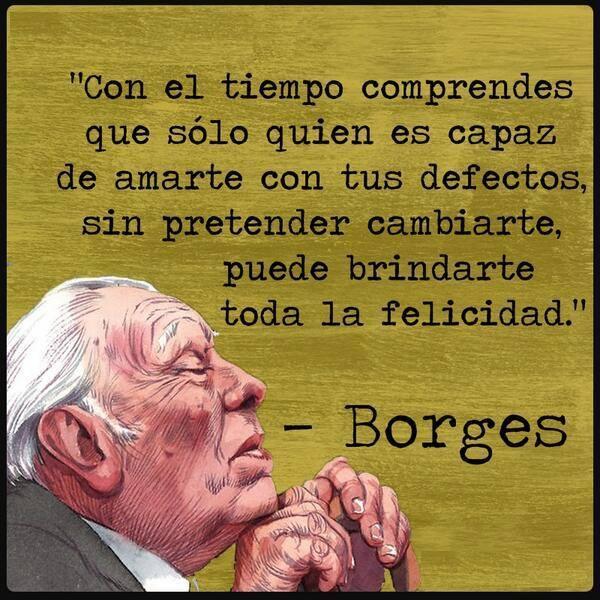 Frases de Jorge Luis Borges en imágenes para compartir en Facebook