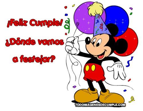 Tarjetas De Felíz Cumpleaños Con Personajes De Disney Para Descargar