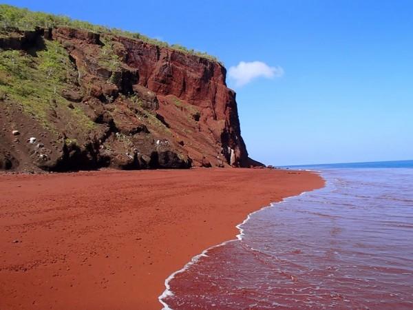 paisaje galapagos arena roja
