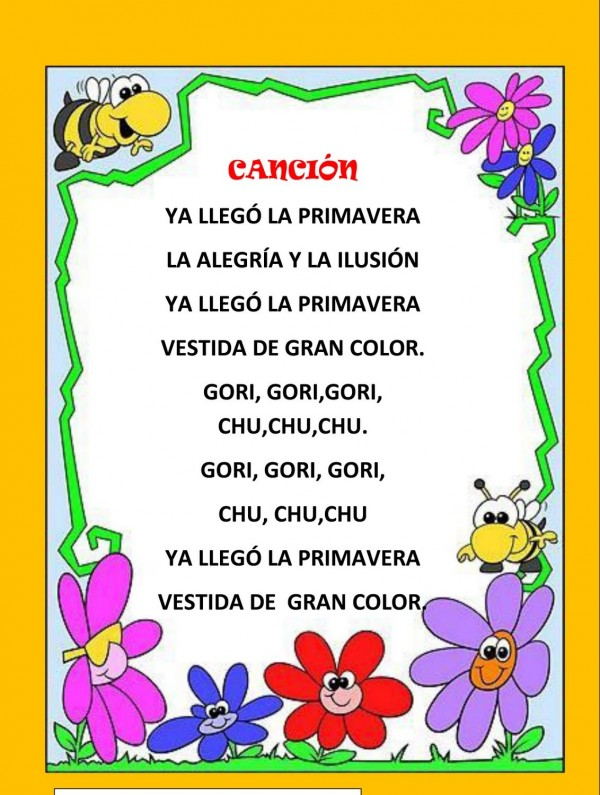 Poemas infantiles de primavera para descargar gratis for Cancion jardin de rosas en ingles