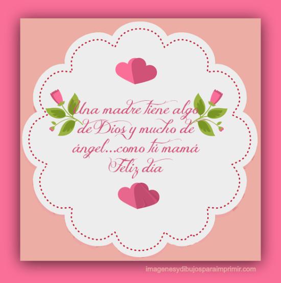 Bellas Imágenes De Felíz Día De La Madre Con Flores Y Corazones