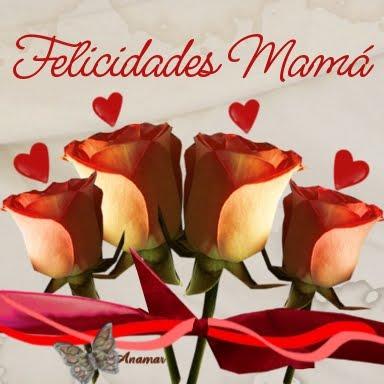 """Bellas imágenes de """"Felíz Día de la Madre"""" con flores y corazones"""