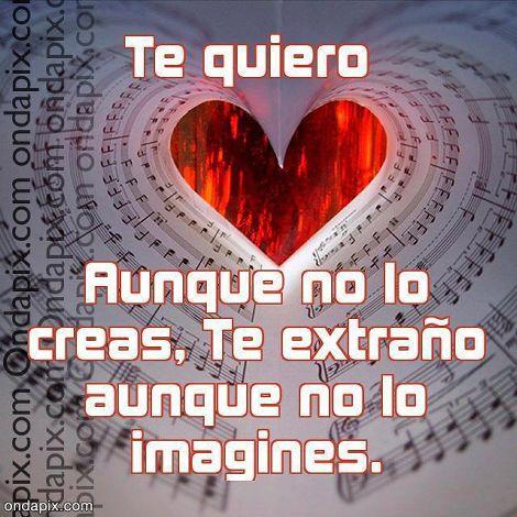 Imagen Te Quiero Aunque No Lo Creas