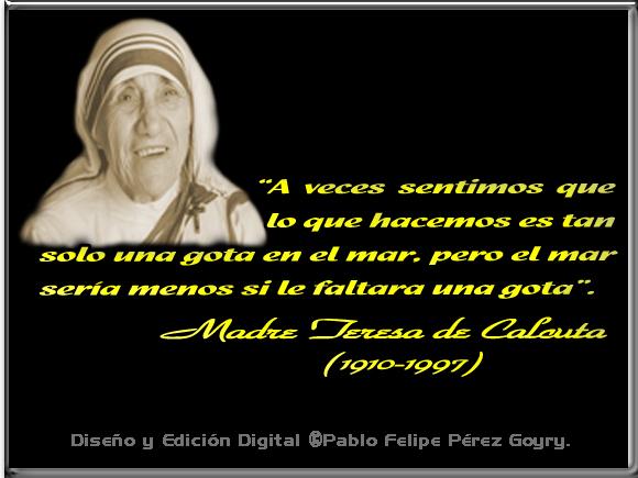 Madre Teresa De Calcuta 23 Frases En Imágenes Para