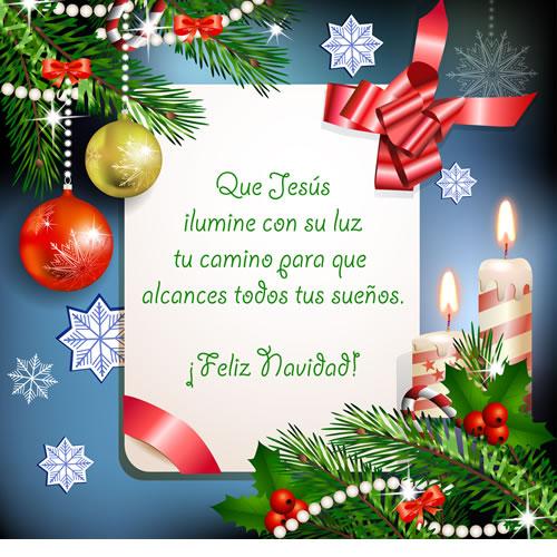 Tarjetas Navideñas con Frases para Whatsapp de Feliz Navidad