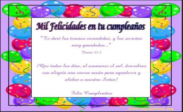 imágenes de Feliz Cumpleaños con frases cristianas  (7)