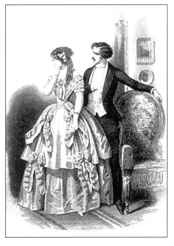 Imágenes de la vestimenta de las mujeres de la época