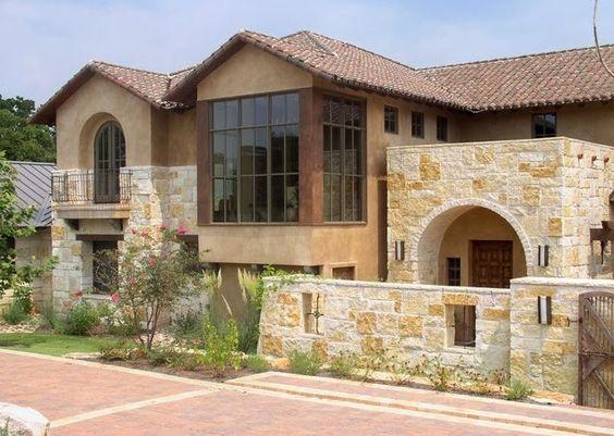 Im genes de fachadas modernas de casas con piedras for Casa moderna 99 arena