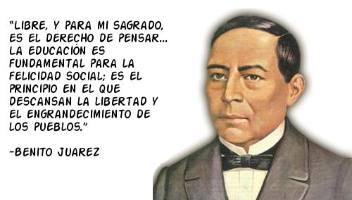 Imágenes De Benito Juárez Con Frases Para El 21 De Marzo Fraseshoyorg