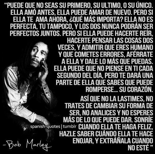 Imagenes Con Frases Hermosas E Inspiradoras De Bob Marley