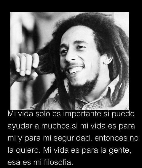 Las Mejores Frases Y Pensamientos De Bob Marley En Imágenes