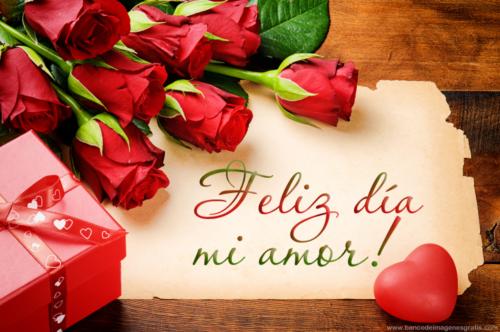 Feliz Dia Mi Amor Flores Tulipanes Con Mensaje De Amor Para