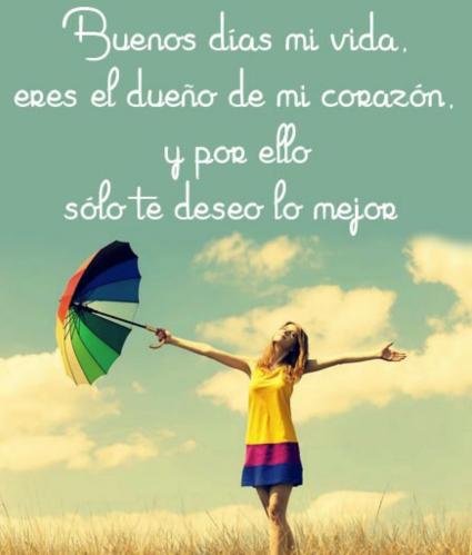 Imagenes De Buenos Dias Mi Amor 1 Frases Hoy